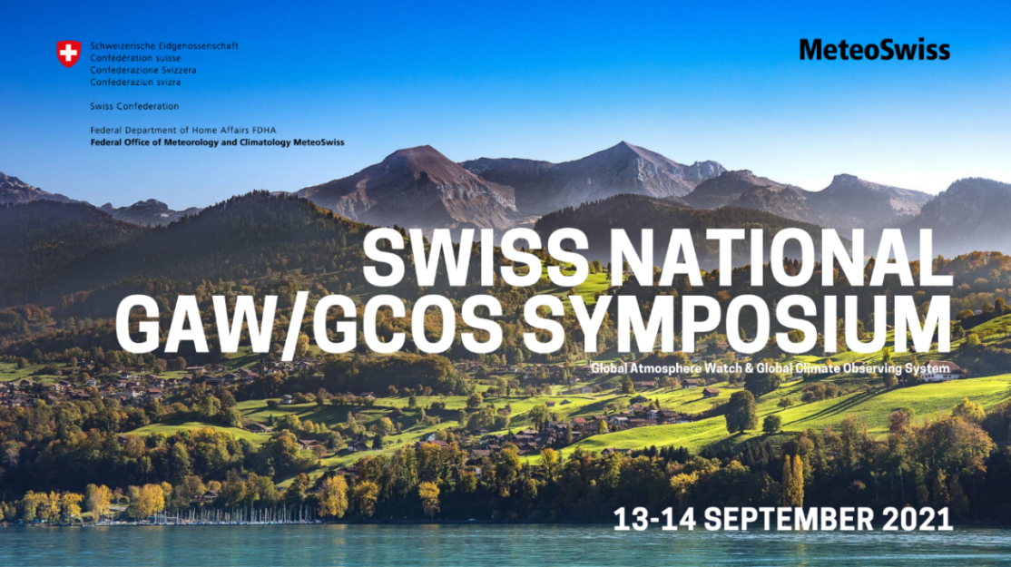 View on Spiez, Swiss town, with mountains in the background. Swiss National GAW/GCOS Symposium, 29-30 September 2020, Bern.
